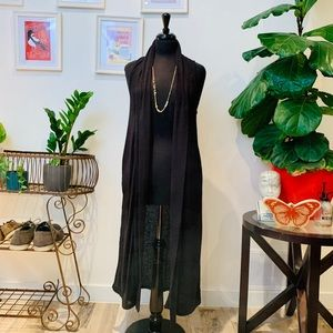 🆕🌿Urban Outfitters | Black Duster Style Vest